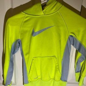 Nike Therma Fit Women's Lime Hoodie Sweatshirt